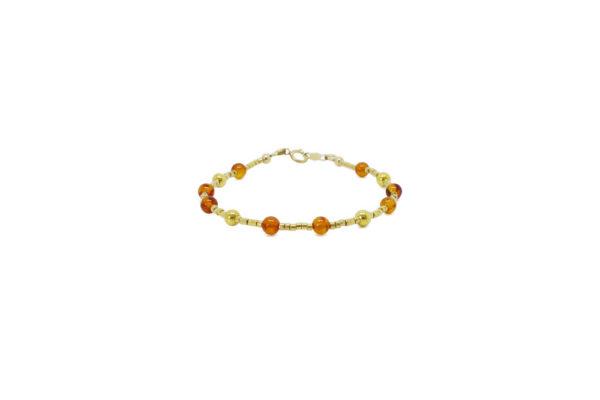 Bracelet perle ambre femme