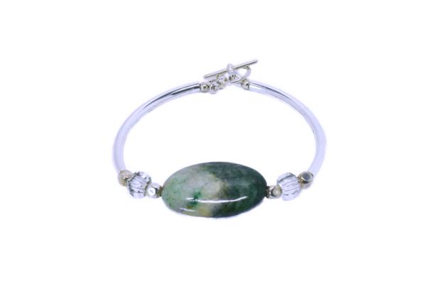 Bracelet rigide pierre semi-précieuse