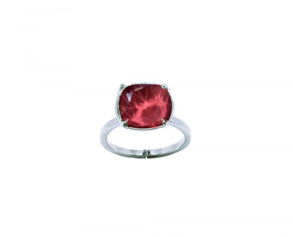 bague crystal dark red