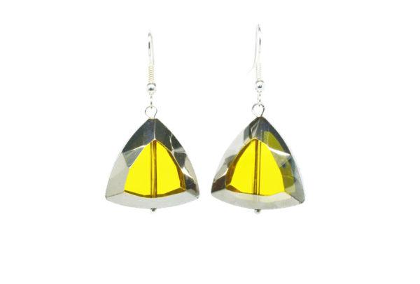 Boucles d'oreilles pendantes triangles