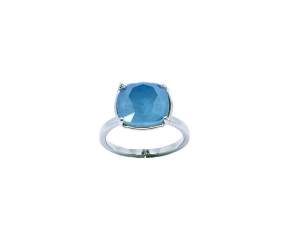 bague cristal bleu ciel