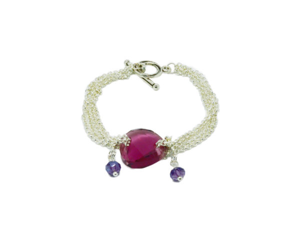 Bracelet multi-chaine perle cristal