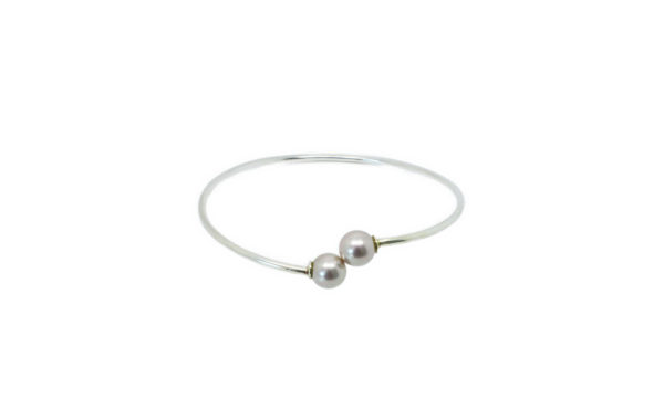 Bracelet jonc ouvert perle