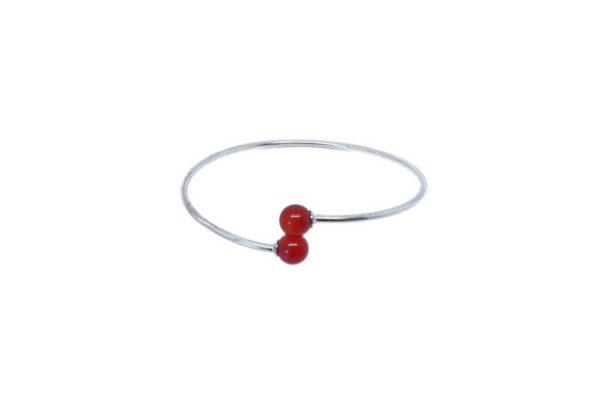 Bracelet jonc pierre semi-précieuse