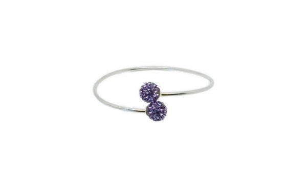 Bracelet jonc argenté perle
