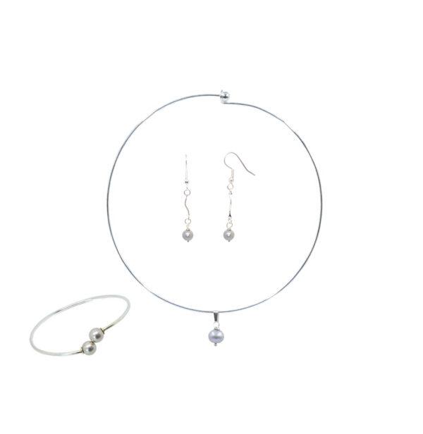 Parure collier bracelet perles