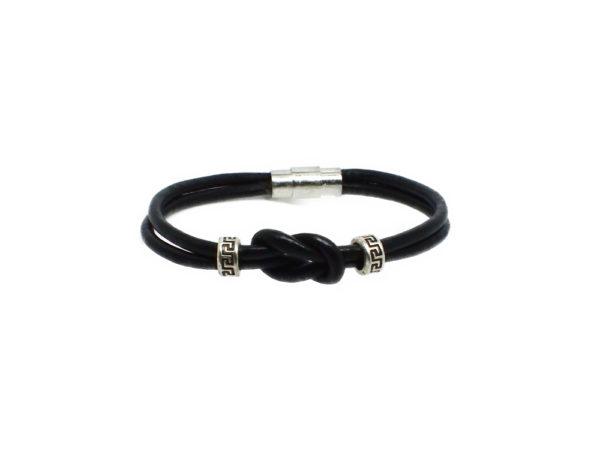 Bracelet cuir infini noir