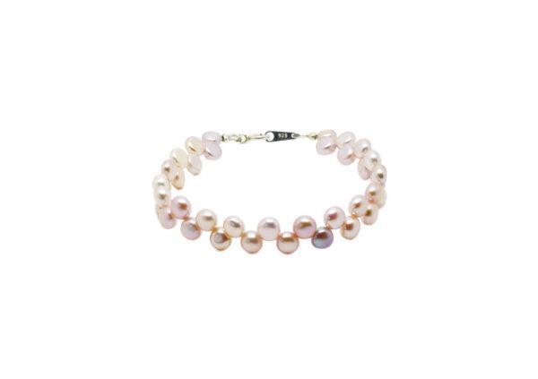 Bracelet perles d'eau douce rose