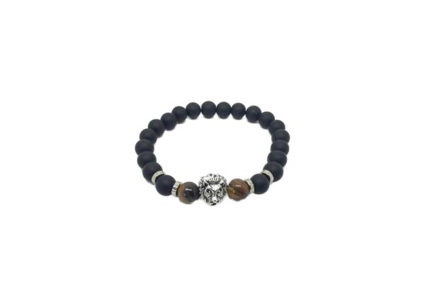 Bracelet homme perle onyx
