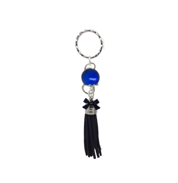 porte clés pompon de couleur