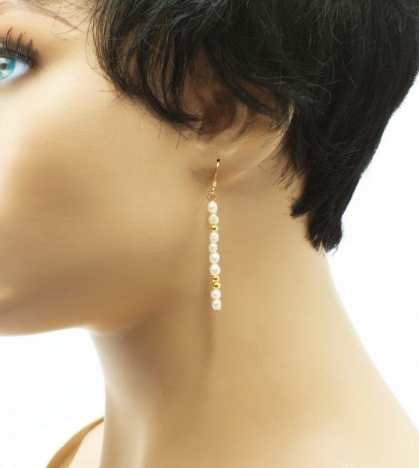 boucles d'oreilles goldfilled perles