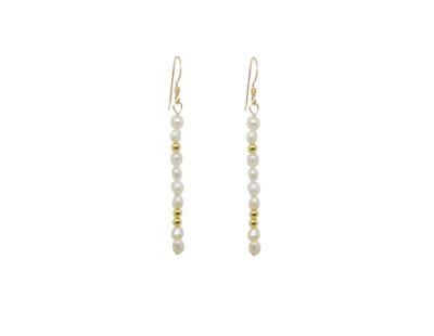 boucles d'oreilles goldfilled perles -Bo110 Perla