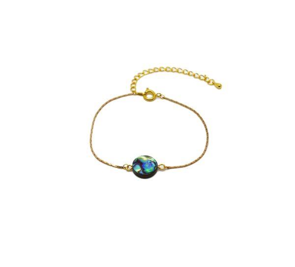 Bracelet doré nacre et abalone