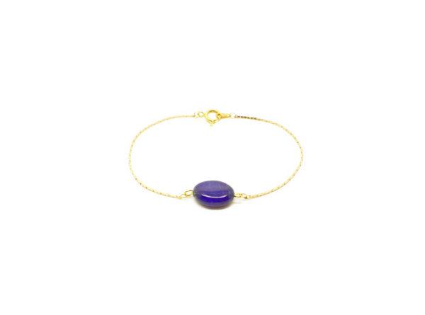 Bracelet doré pierre semi-précieuse