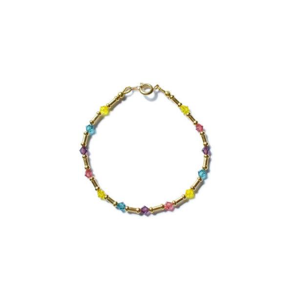 Bracelet doré perle Swarovski