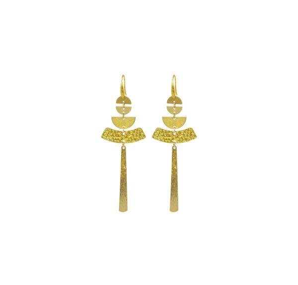 Boucles d'oreilles géométriques dorées